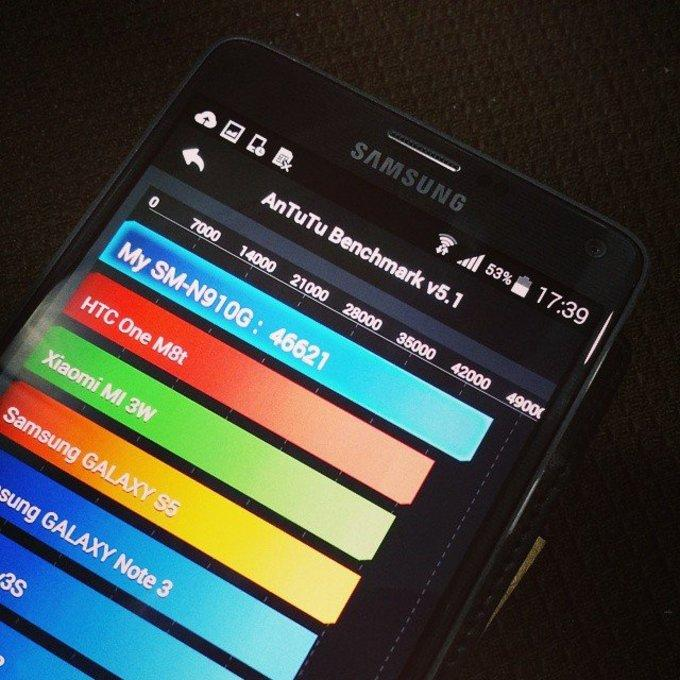 Samsung Galaxy Note 4 в Antutu