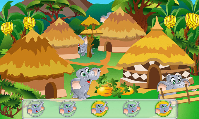 Прятки животных: Игра для детей