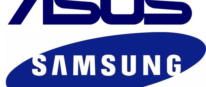 Asus и Samsung - логотипы