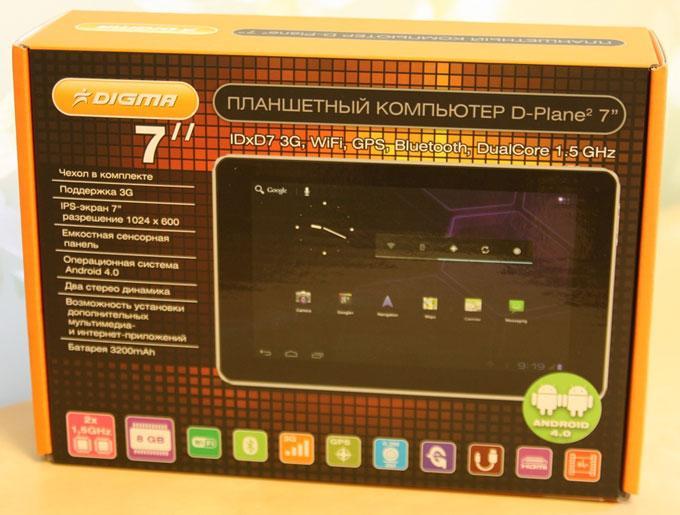 Коробка Digma iDxD7 3G
