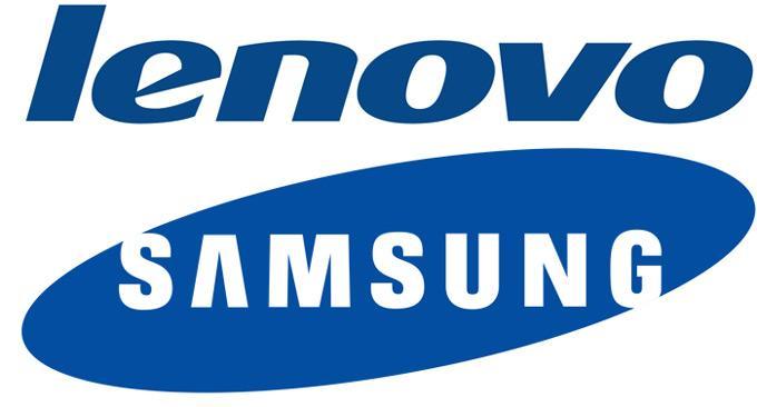 Lenovo иSamsung - логотипы