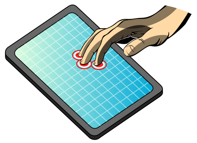 Мультитач дисплеи преобладают в современных планшетах