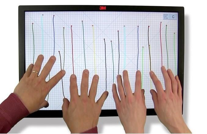 Мультитач способен одновременно распознавать больше двух нажатий