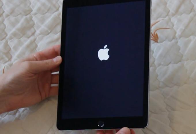 Тёмный экран с яблоком