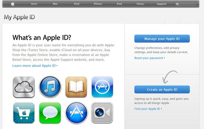 Страница«Мой Apple ID»