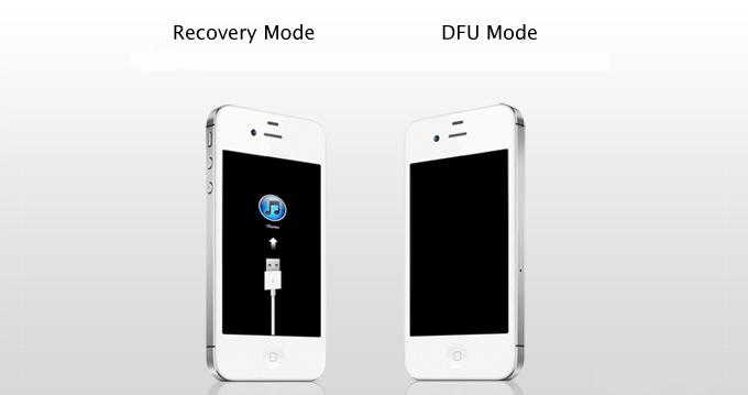 Во время работы режима DFU на экране устройства не должно ничего быть