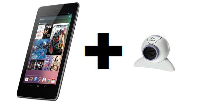 Веб-камера и планшет