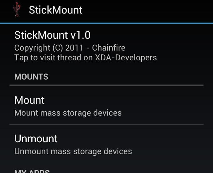 Приложение StickMount