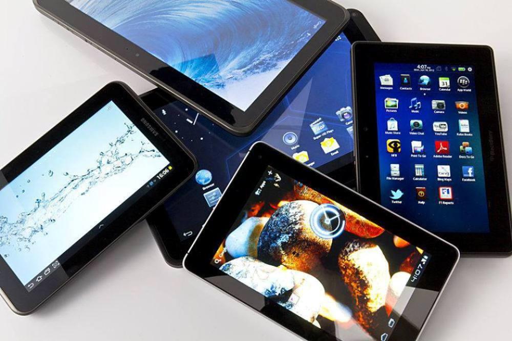 Множество моделей планшетов