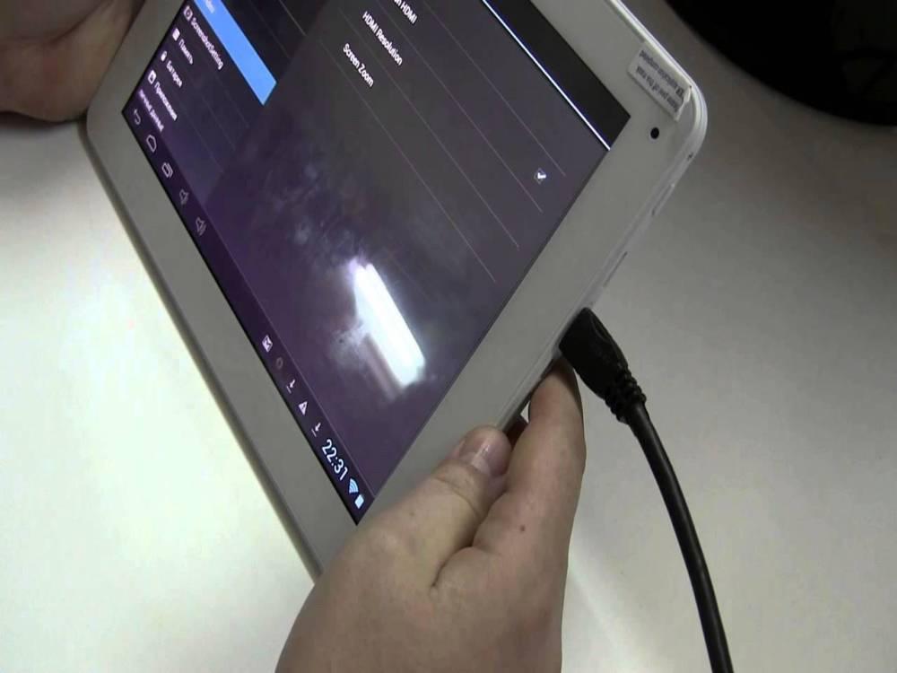Подключение гаджета через HDMI