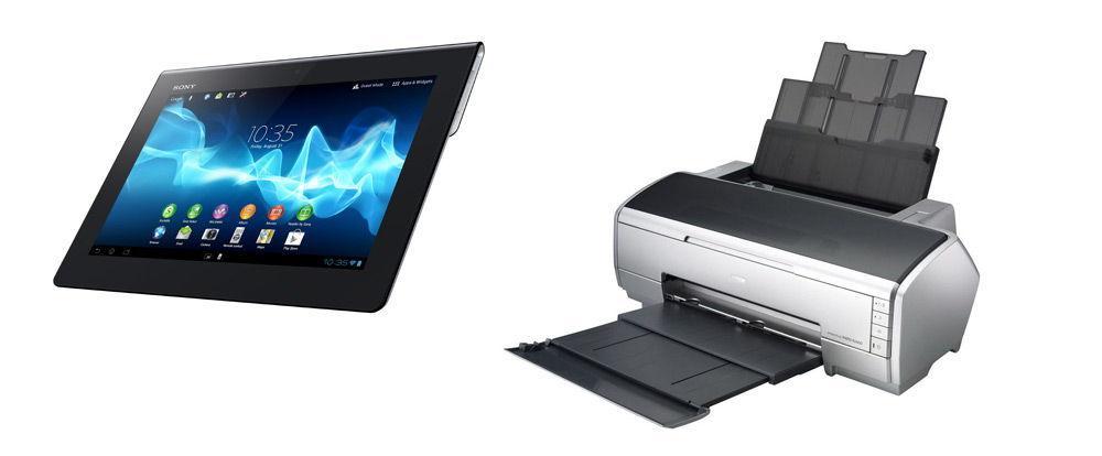 Планшет и принтер