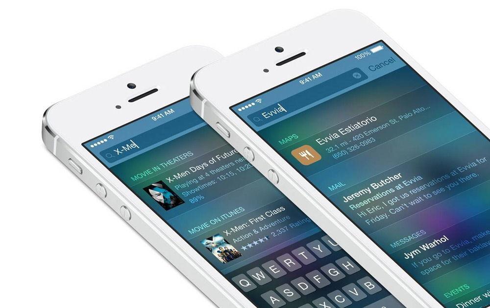 Поиск на iOS 9