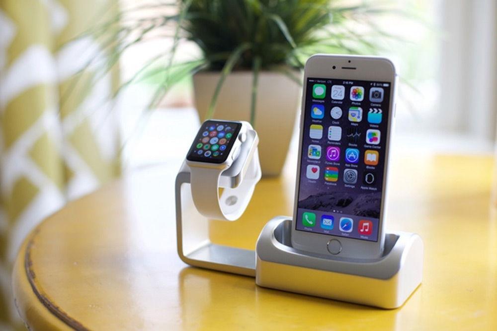 Док-станции для зарядки Apple Watch и iPhone