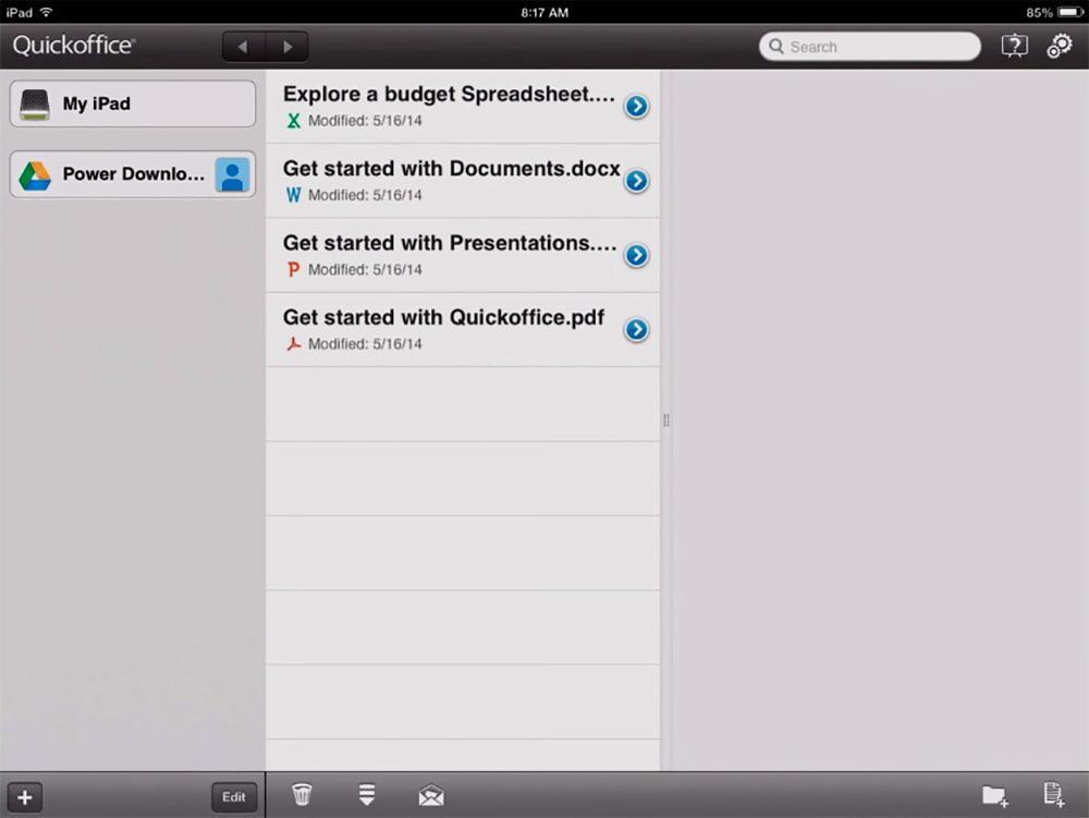 Quickoffice для iPad