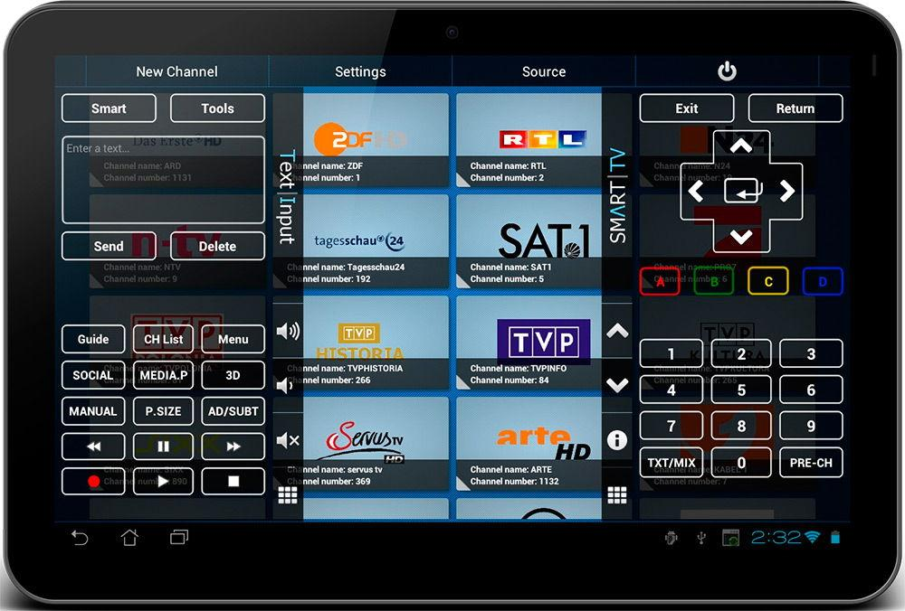 Smart TV Remote Tab