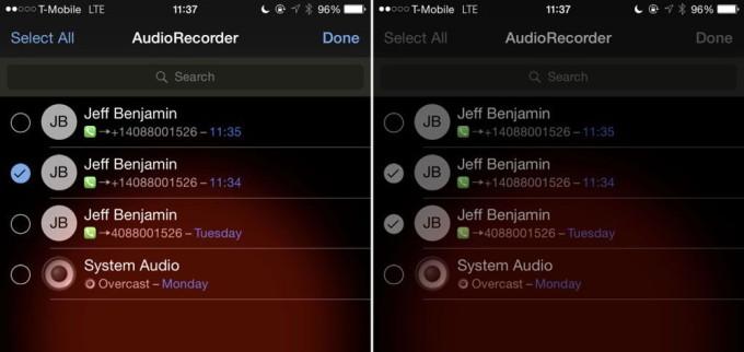 Сортировка записей в Audio Recorder