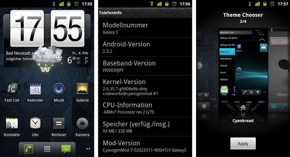 Смартфон с установленной системой CyanogenMod