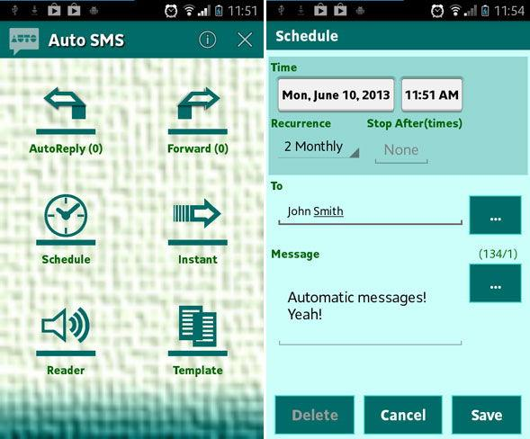 Обзор Auto SMS для Андроид