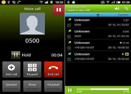 Приложение Call Recorder для Андроид