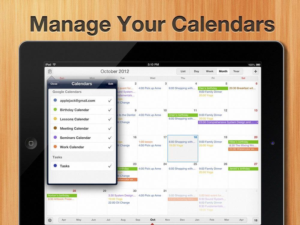 Выбор календаря для iOS