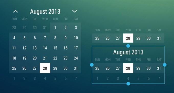 Виджет Month Calendar