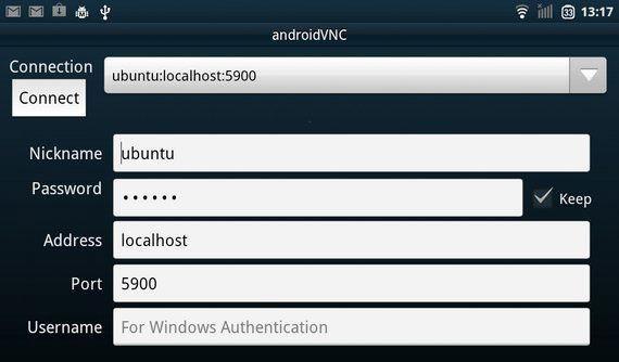 Запуск приложения VNC Viewer
