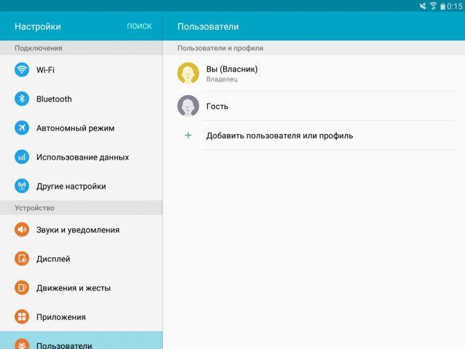 Управление профилями пользователей