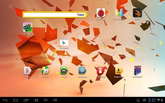 Рабочий стол Google Android 4.2