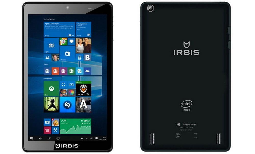 Российский планшет Irbis TW81