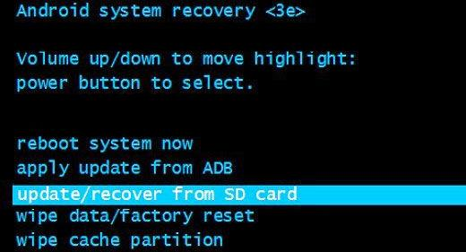 Прошивка устройства в режиме Recovery