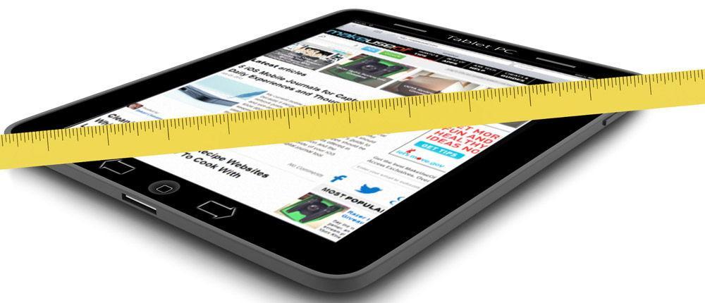 Оптимальные размеры экрана для планшета