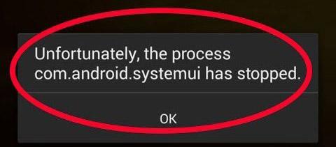 Сообщение с ошибкой на смартфоне