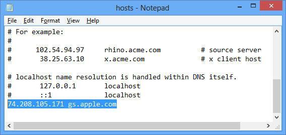 Редактирование системного файла hosts