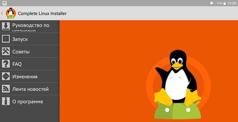 Интерфейс Complete Linux Installer