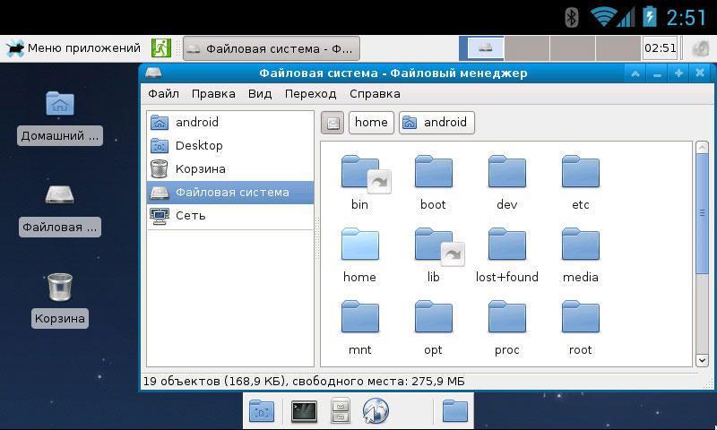 Дистрибутив Debian на планшете с Android