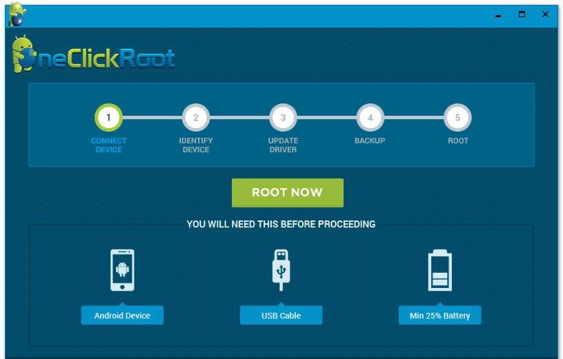 Интерфейс утилиты OneClickRoot