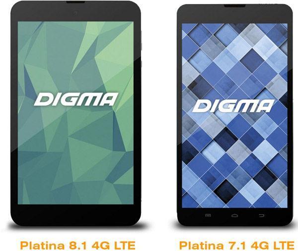 Презентация Digma Platina 8.1 4G LTE