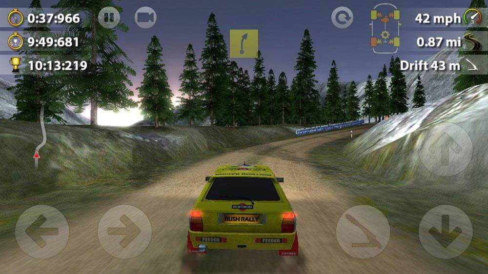 Интерфейс Rush Rally 2