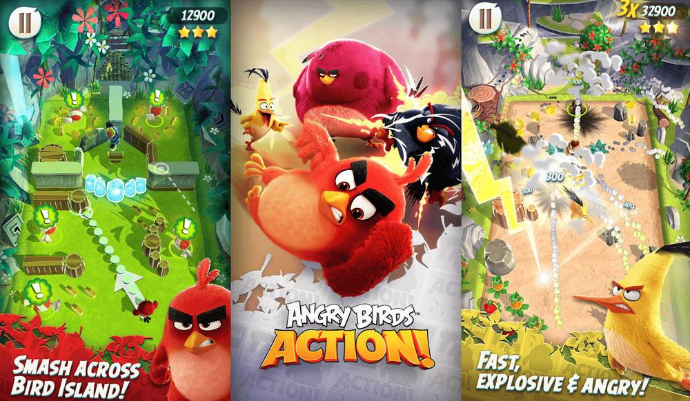 Популярная Angry Birds Action