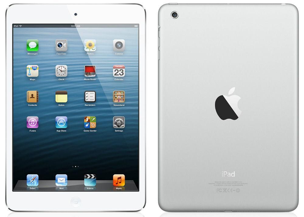 iPad mini на белом фоне