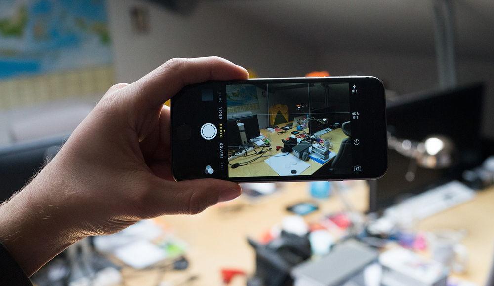 Съемка фото на iPhone