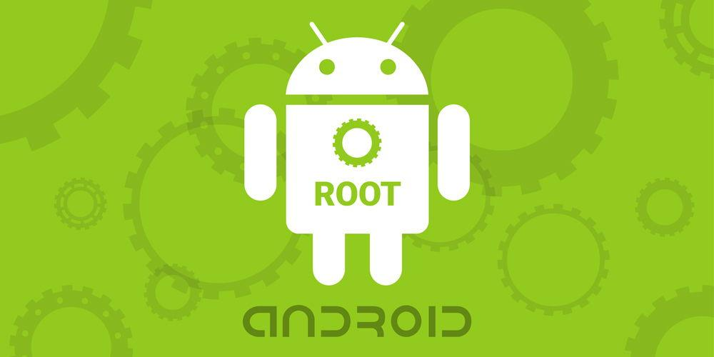 Android с надписью root