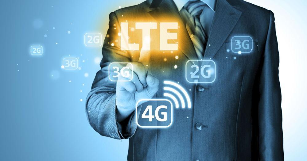 Мужчина в костюме, LTE и 4G