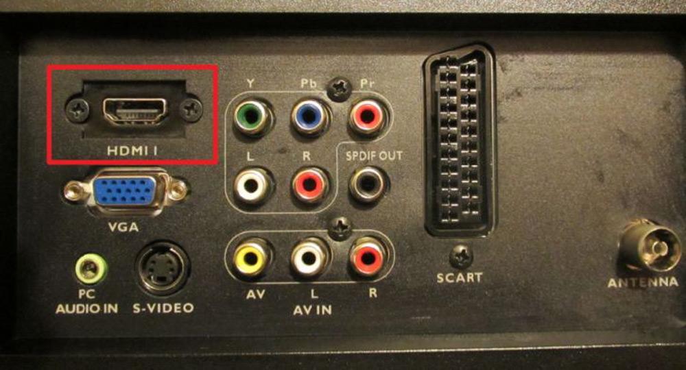Вид HDMI-разъёма