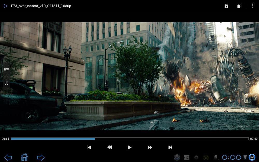Просмотр фильма в MX Player