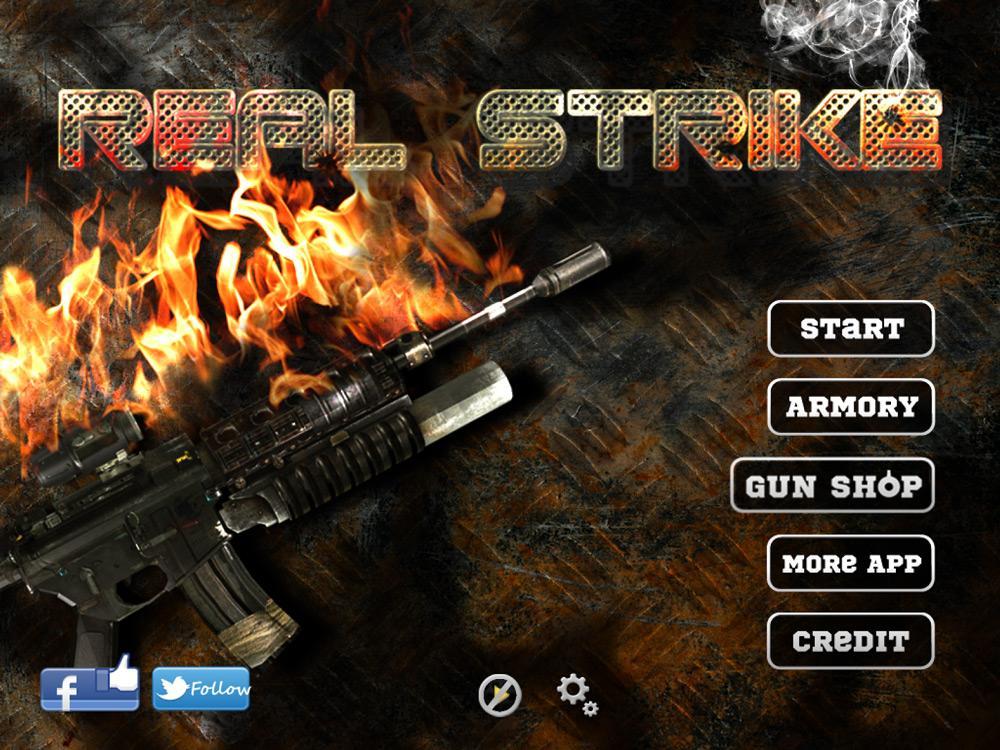 Меню игры Real Strike