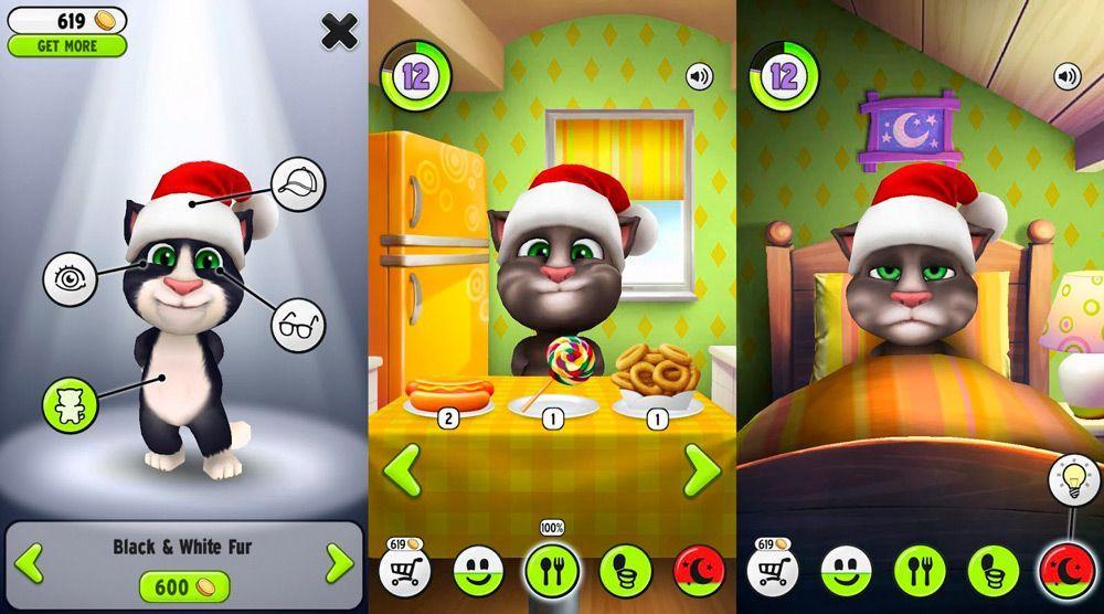 Скриншоты My Talking Tom игры на Андроид