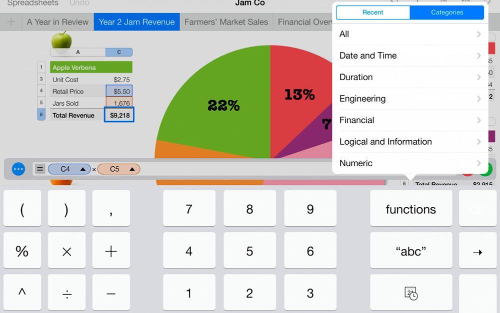 Скриншоты приложения Numbers