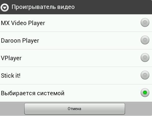 Проигрыватель видео IPTV