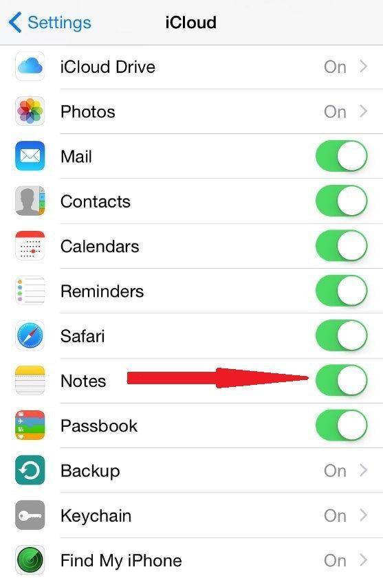 Приложение Notes iPad